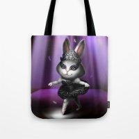 Black Swan Bunny Tote Bag