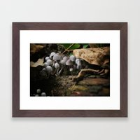 Mushrooms!! white mushrooms! Framed Art Print