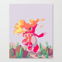 A Melody in Fire Canvas Print