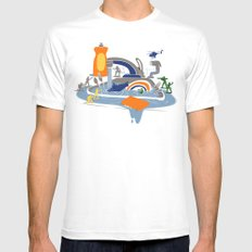 Sink Sank Sunk SMALL White Mens Fitted Tee