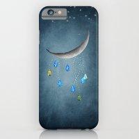 Silver tender moon iPhone 6 Slim Case