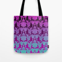 Ombre Damask Tote Bag