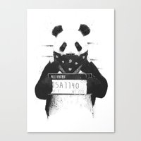 Bad panda Canvas Print
