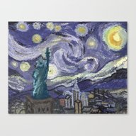 Canvas Print featuring Hurricane Sandy by Misha Libertee