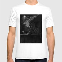 Twisted Reflection Mens Fitted Tee White SMALL