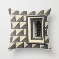 Geometric Old Wall Patte… Throw Pillow