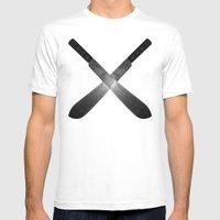 Cross Machete Mens Fitted Tee White SMALL