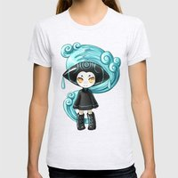 Water Sprite Womens Fitted Tee Ash Grey SMALL