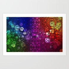 Stone Rock'd Rainbow - Art By Sharon Cummings Art Print