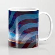 Sunset And American Flag… Mug