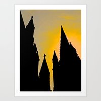 Steeple Sunrise Art Print