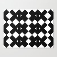 Canvas Print featuring Branting Black & White Pattern by Stoflab