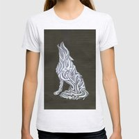Wolf Womens Fitted Tee Ash Grey SMALL