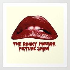 Rocky Horror Picture Show Lips Logo Art Print