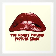 Rocky Horror Picture Show Lips Logo Art Print