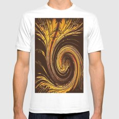 Golden Filigree Germination SMALL Mens Fitted Tee White