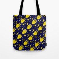 Owl Moon Starry Nights Tote Bag