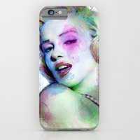 Marilyn under brushes effects iPhone 6 Slim Case