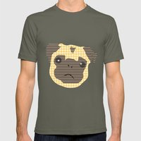 Pug! Mens Fitted Tee Lieutenant SMALL