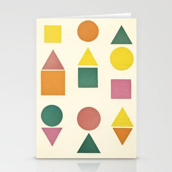 Shape Sorter Stationery Card