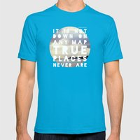 Maps(2) Mens Fitted Tee Teal SMALL