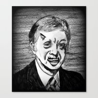 39. Zombie Jimmy Carter  Canvas Print