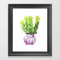 Succulent Vase Framed Art Print