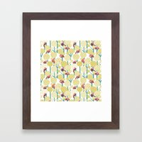 Red Panda Forest - Yellow Framed Art Print