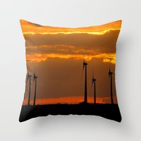 MM - Wind Turbines In Th… Throw Pillow