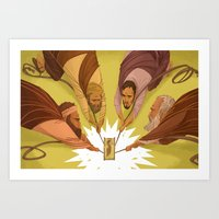 Dropped Through The Ceil… Art Print
