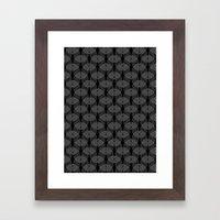 Black Undulation Framed Art Print