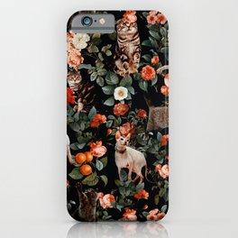 iPhone & iPod Case - Cat and Floral Pattern II - Burcu Korkmazyurek