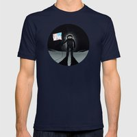Lunar Walk Mens Fitted Tee Navy SMALL