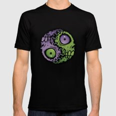 Zombie Yin-Yang Mens Fitted Tee Black SMALL