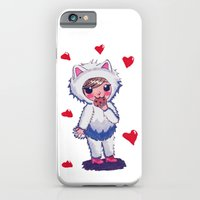 iPhone & iPod Case featuring Valentine Kitty Nomz by Feral Doe