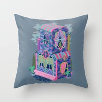 Diamond House Throw Pillow