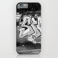 iPhone & iPod Case featuring brighton steer art in black and white set 1 by seb mcnulty