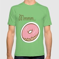 Mmmm... Donut Mens Fitted Tee Grass SMALL