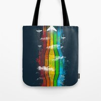 Colored Flight Tote Bag