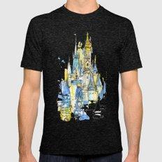 Cinderella's Castle Magic Kingdom  Mens Fitted Tee Tri-Black SMALL