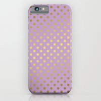 Lavender And Gold Polka … iPhone 6 Slim Case
