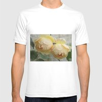 Rose Duet Mens Fitted Tee White SMALL