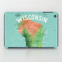 Wisconsin Map iPad Case