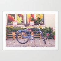 Market Bicycle Art Print