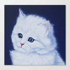 Miss Kitty painting Canvas Print