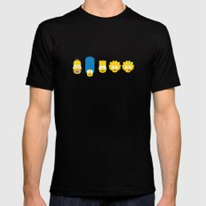 The Simpsons Black SMALL Mens Fitted Tee