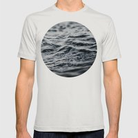 Ocean Magic Black And Wh… Mens Fitted Tee Silver SMALL