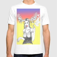 Rack City White Mens Fitted Tee SMALL