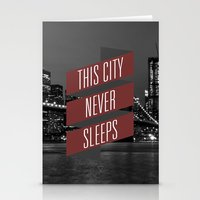 This City Never Sleeps Stationery Cards