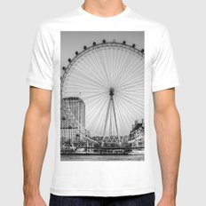 London Eye, London White Mens Fitted Tee SMALL